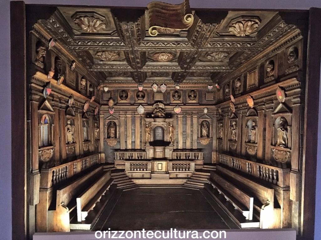 Caimi, Maquette Teatro anatomico Bologna, Sublimi anatomie mostra Palazzo Esposizioni