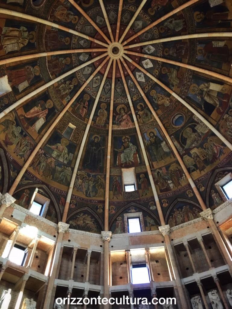 Battistero San Giovanni Battista, Parma, dettaglio cupola interno