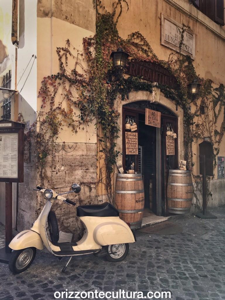 Scorcio rione Trastevere a Roma
