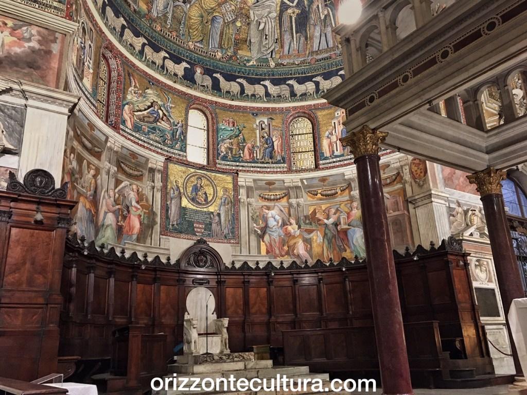 I mosaici con le Storie della Vergine di Pietro Cavallini, passeggiate romane Basilica Santa Maria in Trastevere