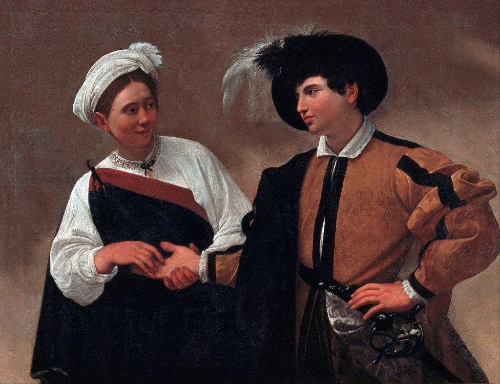 La buona ventura, Caravaggio Roma itinerario opere Michelangelo Merisi
