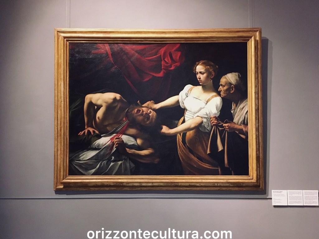 Giuditta e Oloferne Palazzo Barberini, Caravaggio Roma itinerario opere Michelangelo Merisi