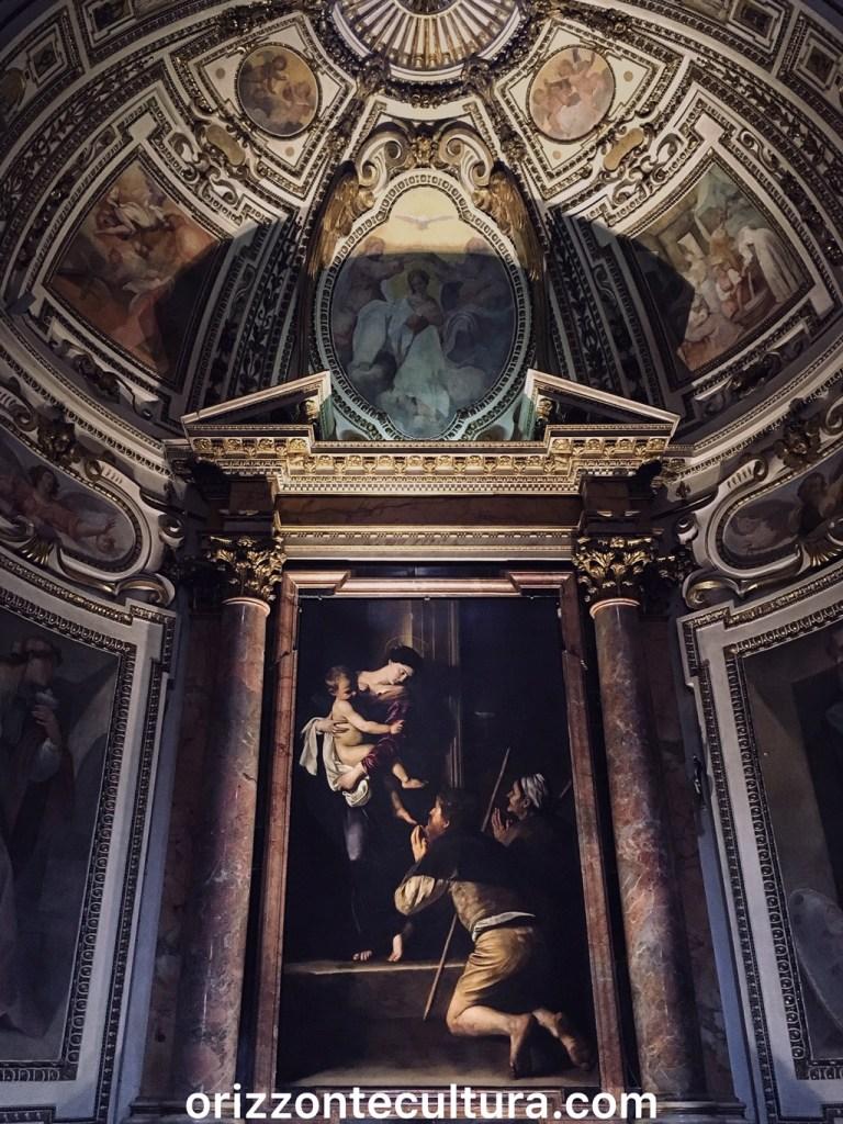 Caravaggio, Madonna dei Pellegrini, Sant'Agostino, Roma itinerario opere Michelangelo Merisi