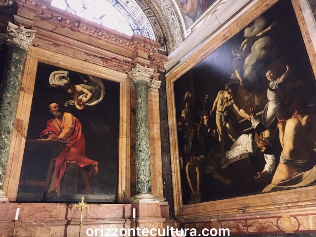 Caravaggio, San Matteo e l'Angelo e Martirio di San Matteo, San Luigi dei Francesi, Caravaggio Roma itinerario opere