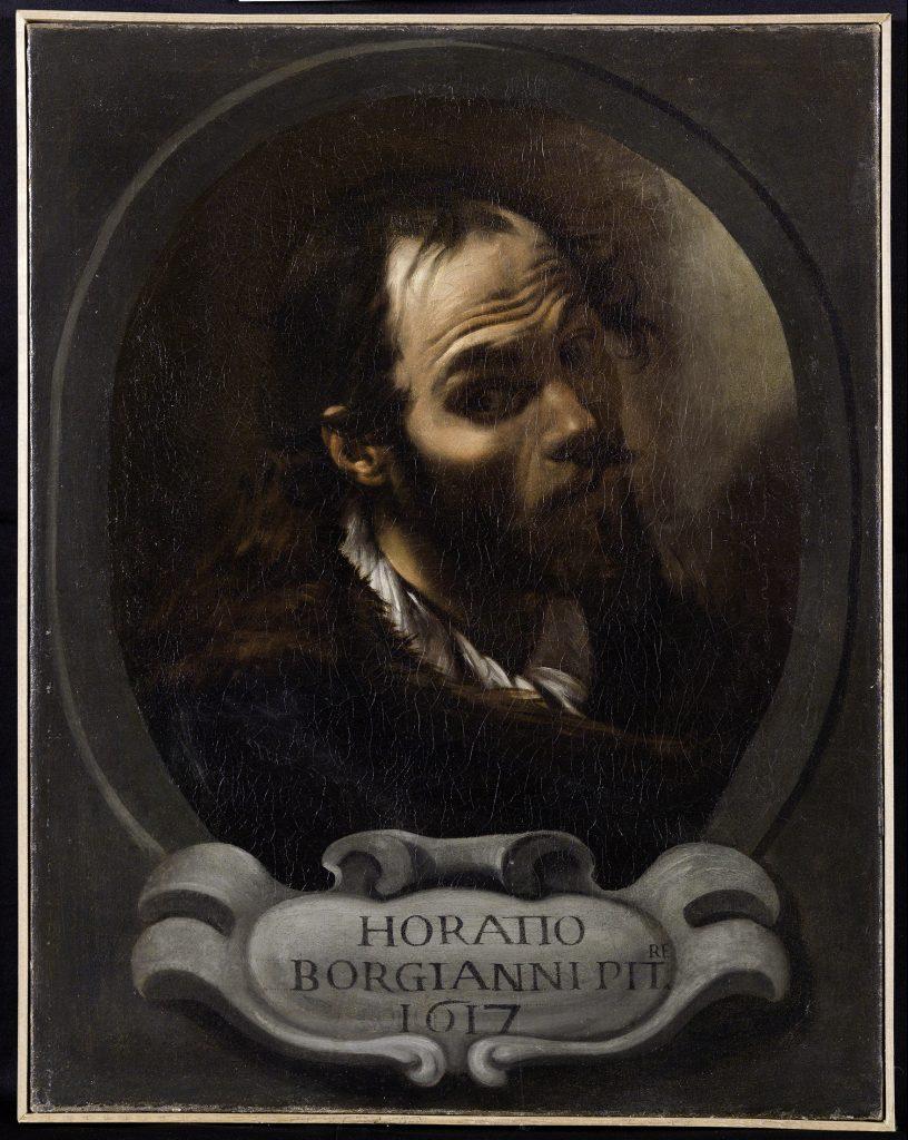 Orazio Borgianni, Autoritratto Accademia di San Luca, mostra Palazzo Barberini