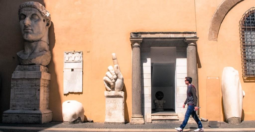 Musei Capitolini cortile, mostre musei Roma dopo lockdown