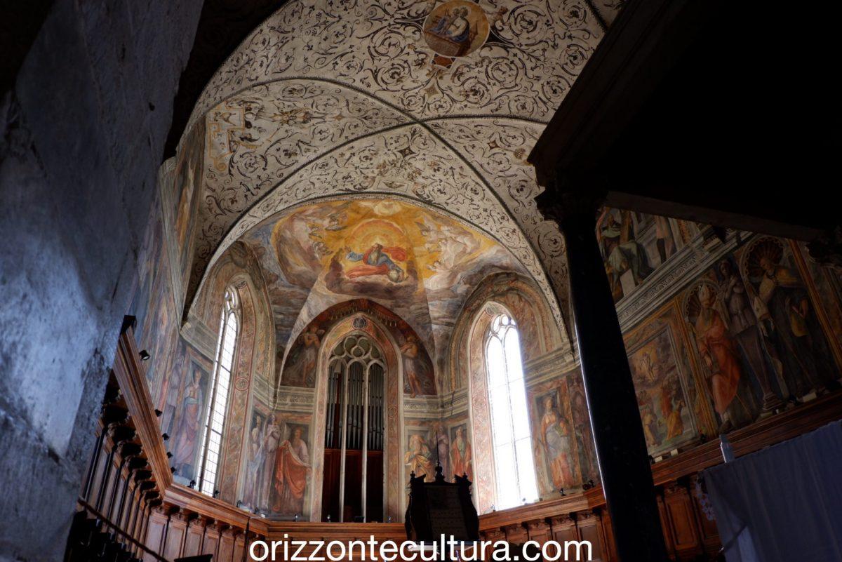 Decorazioni a grottesche della scuola dello Zuccari, visita borgo Abbazia Farfa Lazio