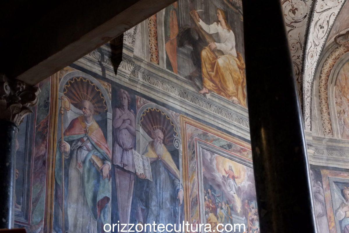 Decorazioni sopra il coro dell'Abbazia di Farfa