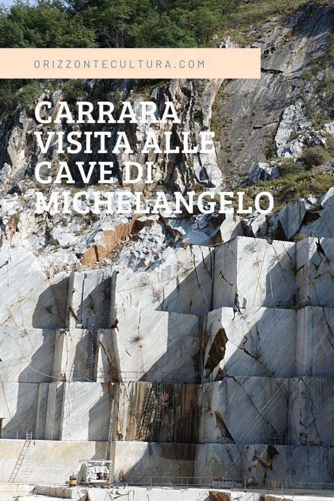 Pinterest Carrara visita alle cave di Michelangelo