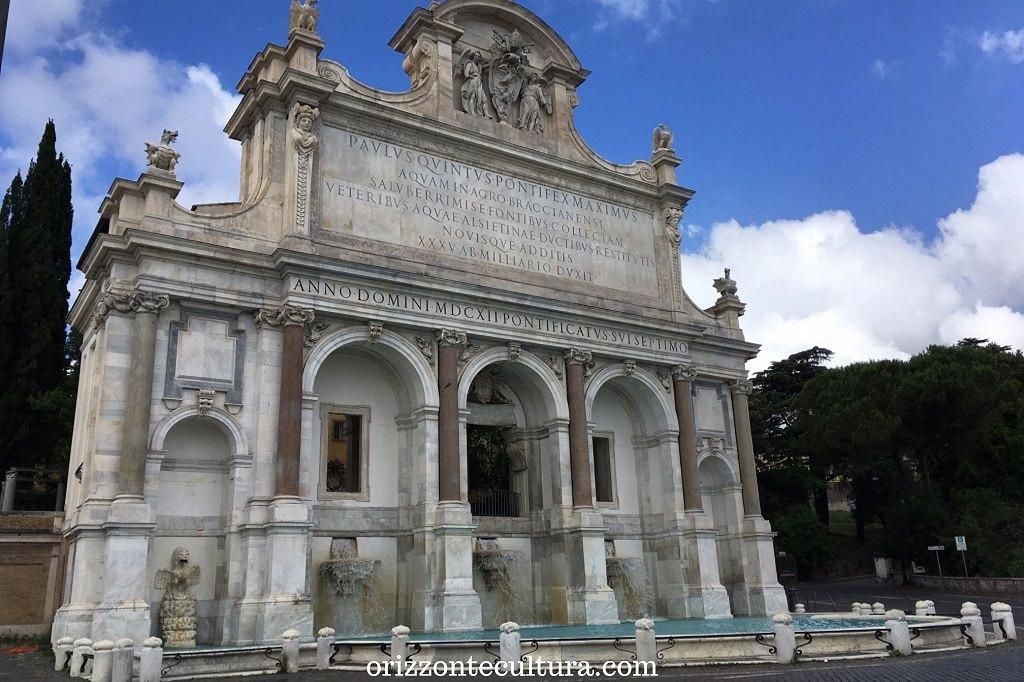 Fontana dell'Acqua Paola, Gianicolo Roma