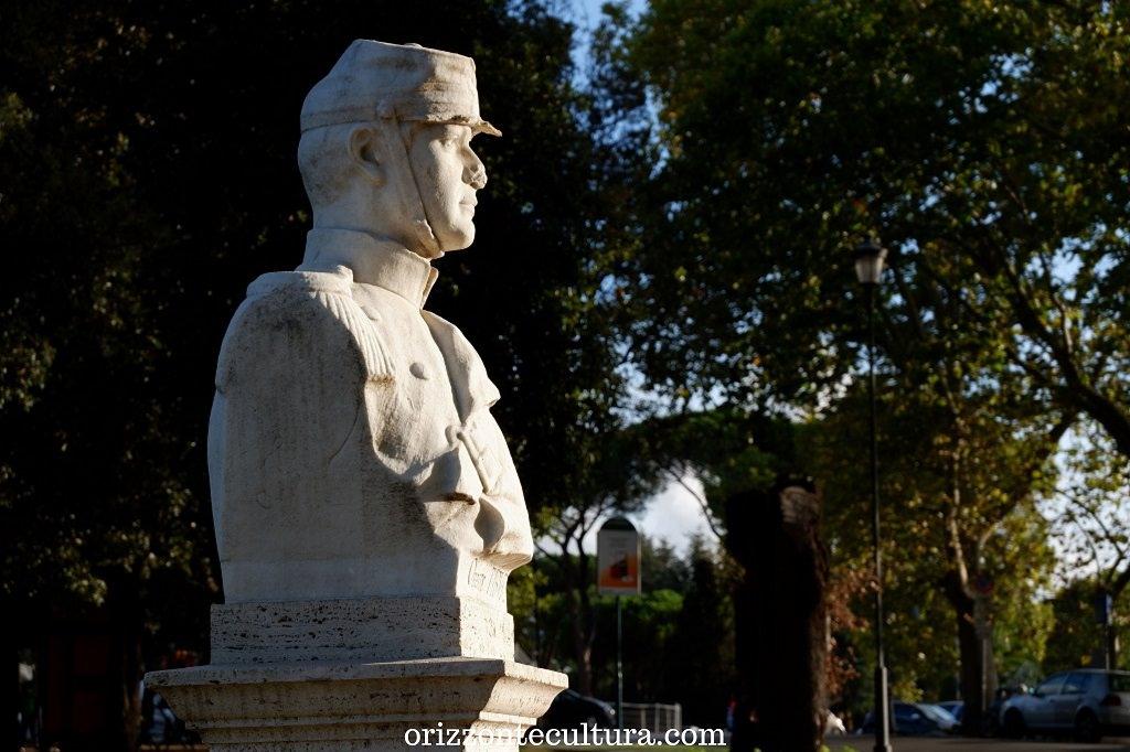 Uno dei busti dei Patrioti sul Gianicolo, Passeggiata Gianicolo Roma