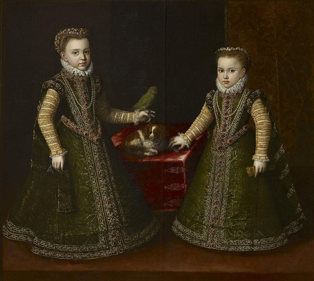 La donna nell'arte Sofonisba Anguissola, Infante Isabella Clara Eugenia e Caterina Michel