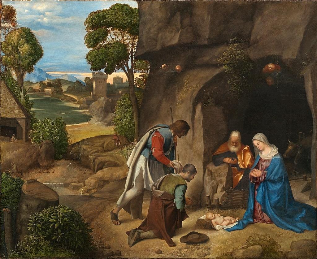 Giorgione, Natività Allendale, natività più belle arte