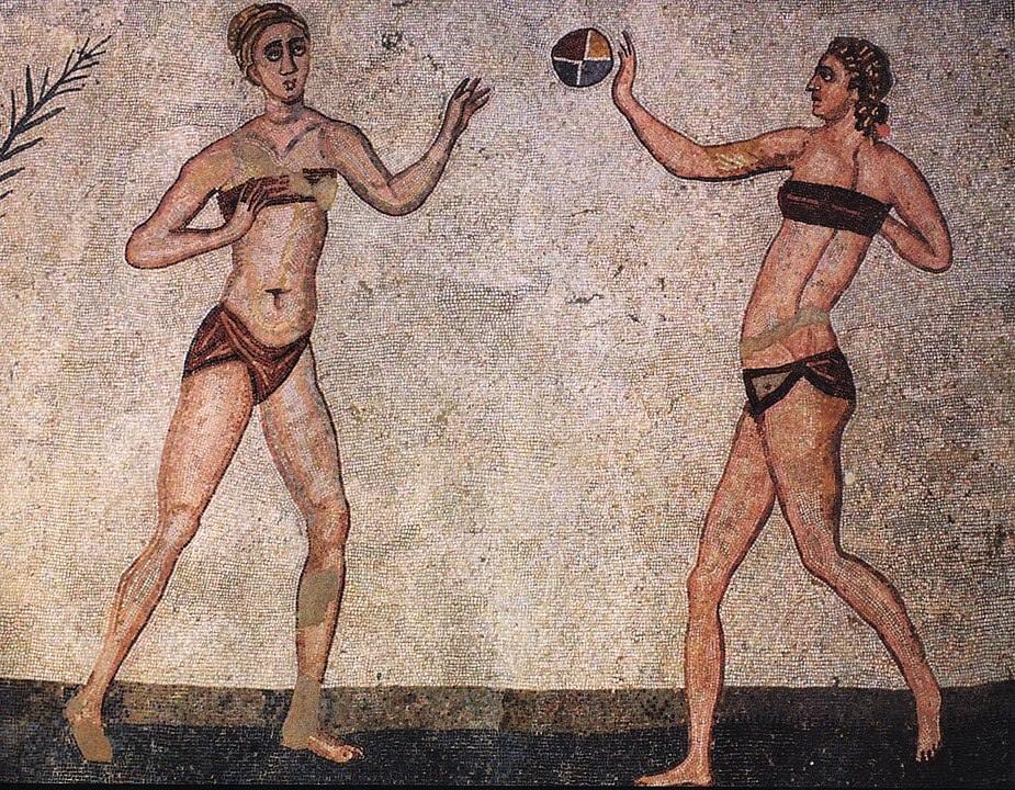 Mosaico dalla Villa del Casale, Piazza Armerina, Patrimonio dell'Umanità