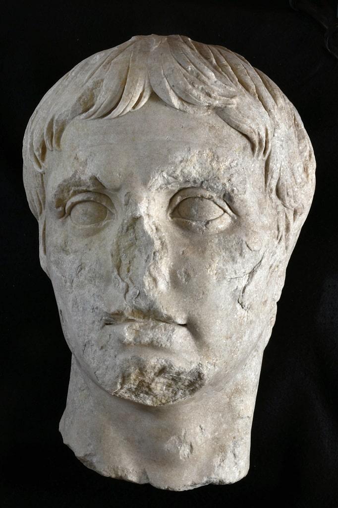 Testa di Augusto quale condottiero