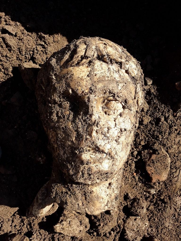 Testa di Augusto, il ritrovamento via Alessandrina Fori Imperiali
