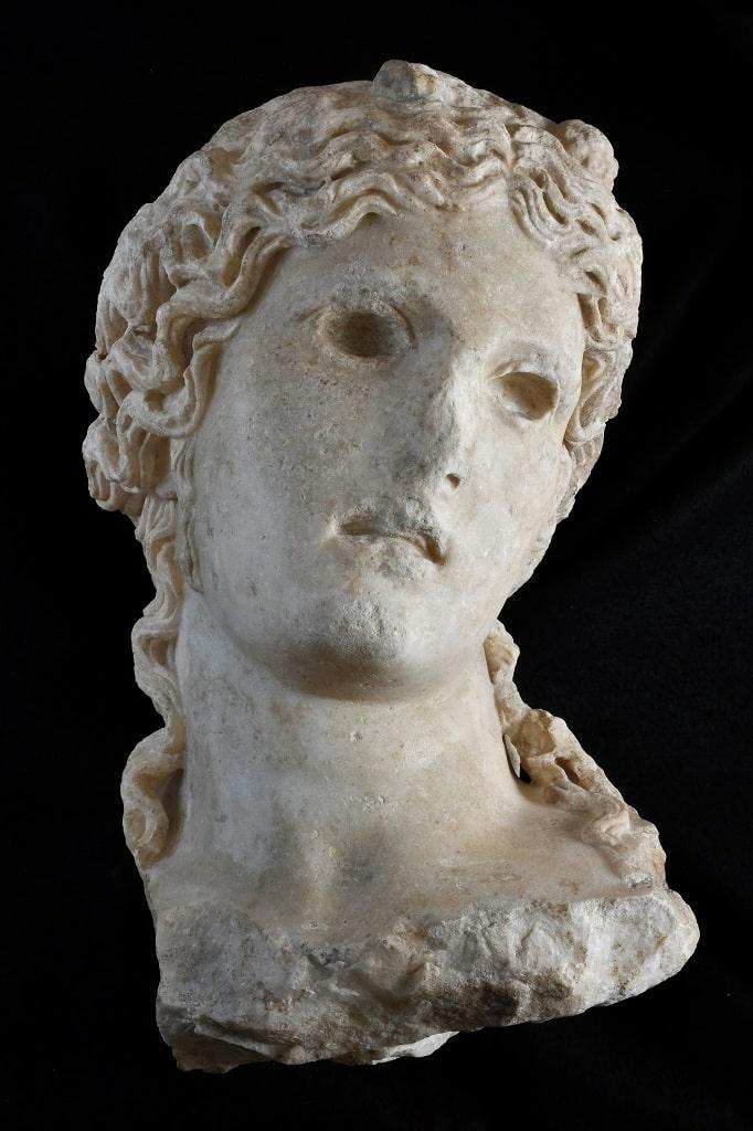 Testa di Dioniso, via Alessandrina Fori Imperiali