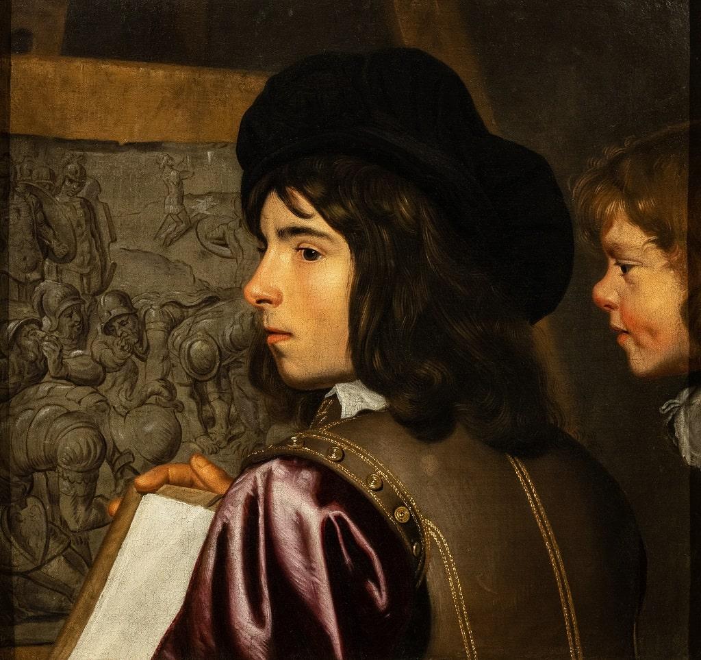 Jacob van Oost Davanti al cavalletto, l'ora dello spettatore Barberini