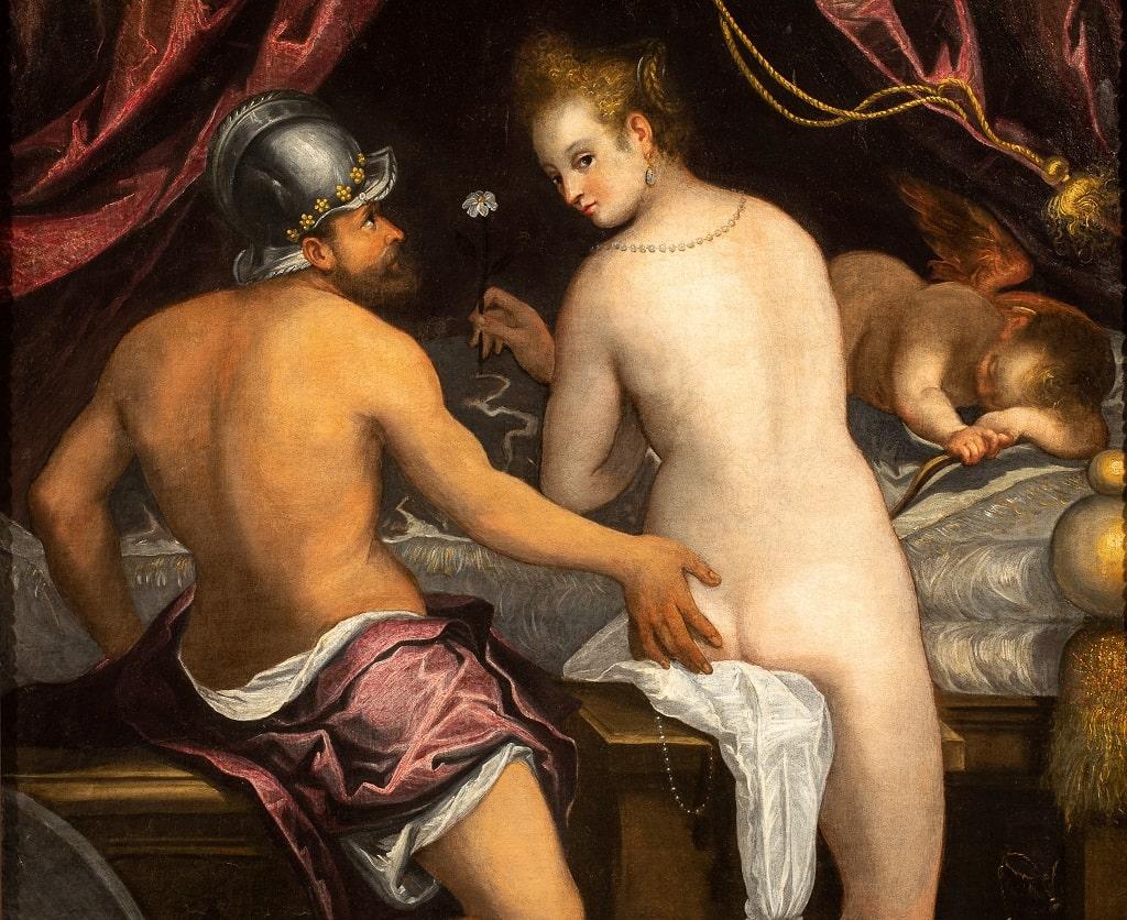 Lavinia Fontana Venere e Marte, l'ora dello spettatore mostra