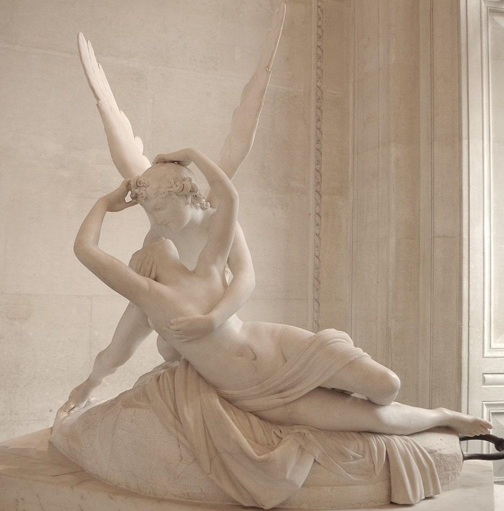 Antonio Canova Amore e Psiche, baci famosi arte