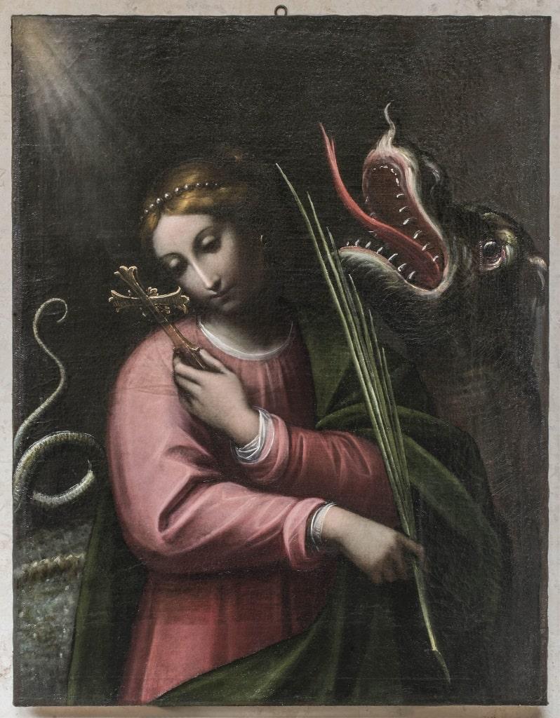 Orsola Maddalena Caccia Santa Margherita di Antiochia, La Signore dell'Arte