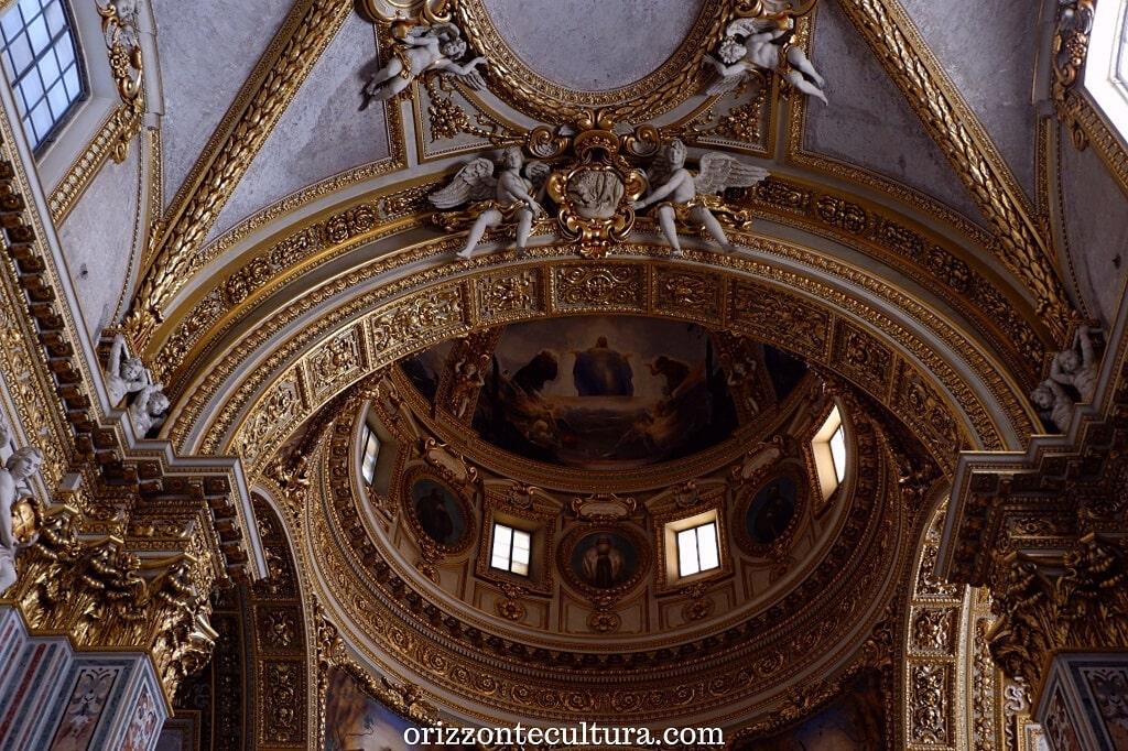 Dettaglio della volta della cupola della Cattedrale di Santa Maria Assunta e San Benedetto abate, Abbazia benedettina di Montecassino