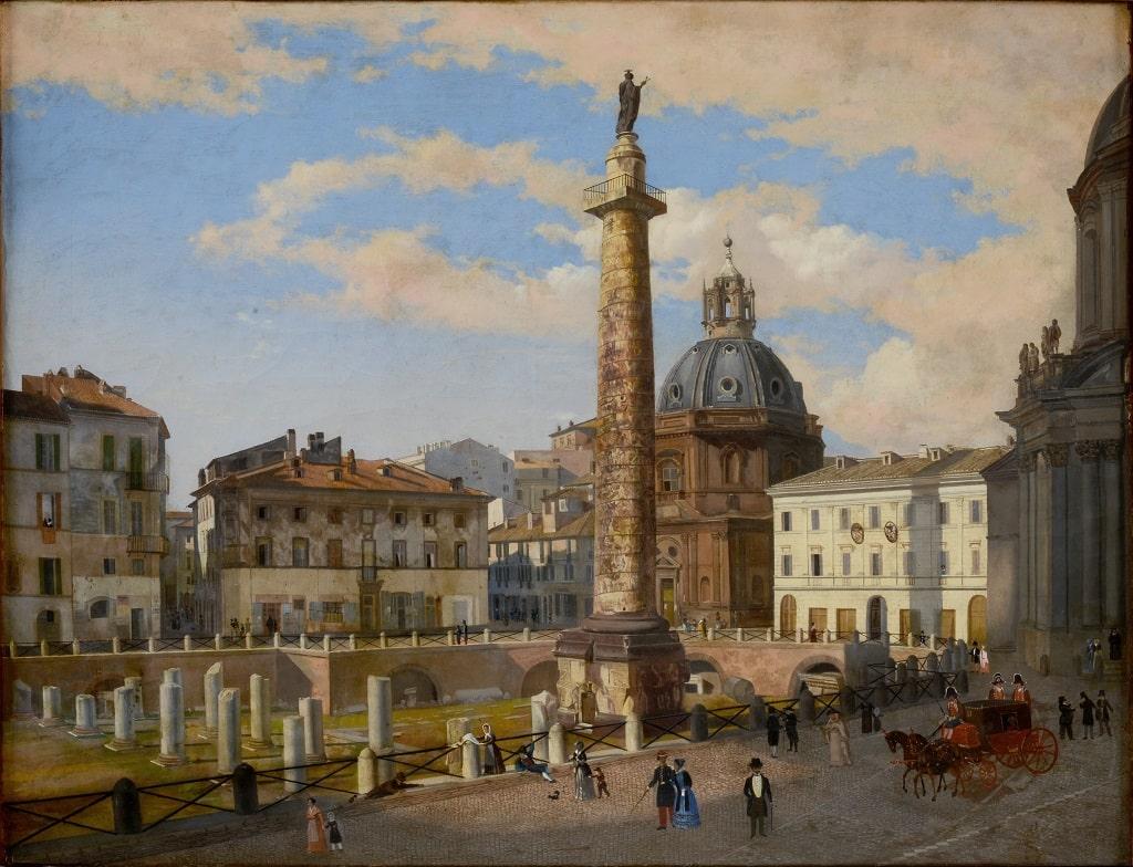 Charles Lock Eastlake, Il Foro di Traiano dopo gli scavi dei Francesi