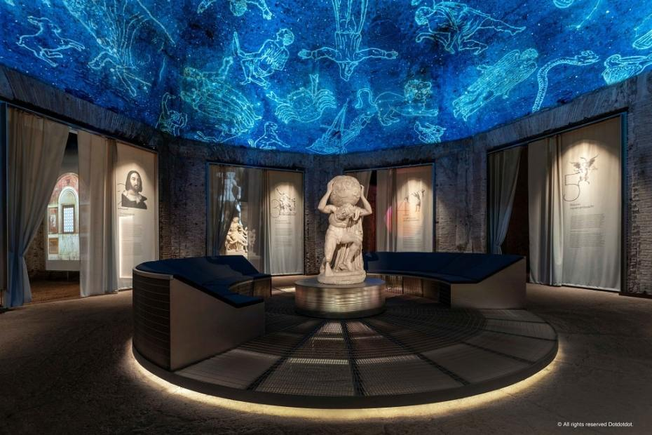 Atlante Farnese, Raffaello Domus Aurea mostra
