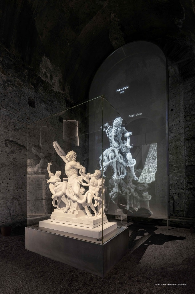Calco in gesso del gruppo del Laocoonte, Raffaello e l'invenzione delle grottesche