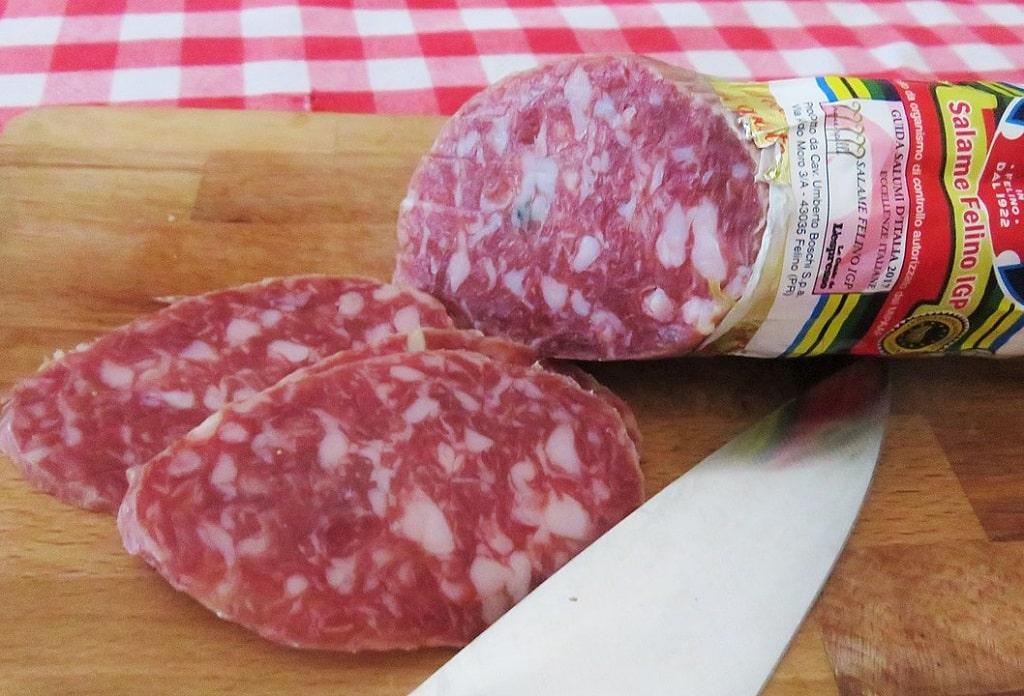 Salame di Felino IGP, prodotti tipici Parma