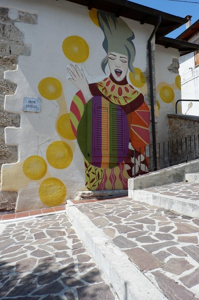 Il murale di Le Bis ad Aielli
