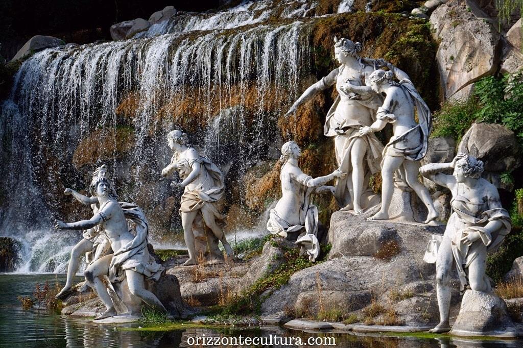 Dettaglio della Fontana di Diana e Atteone, Parco Reale della Reggia di Caserta cosa vedere
