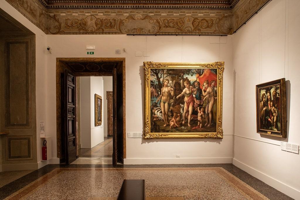 Una delle sale del Cinquecento a Palazzo Barberini