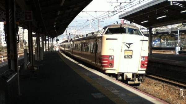 The Tokkyu (express) 'Thunderbird' Kyoto-Kanazawa