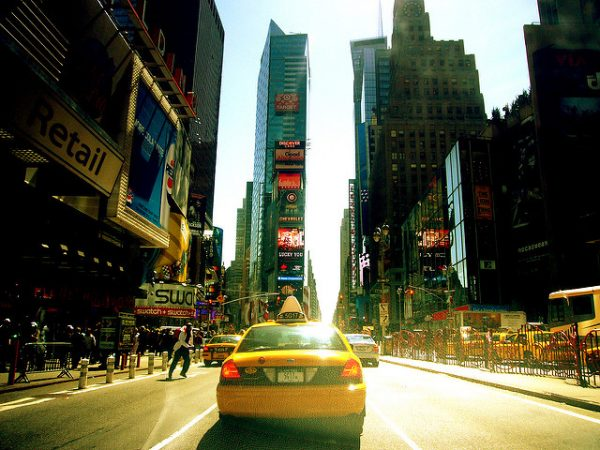 Taxi a Times Square