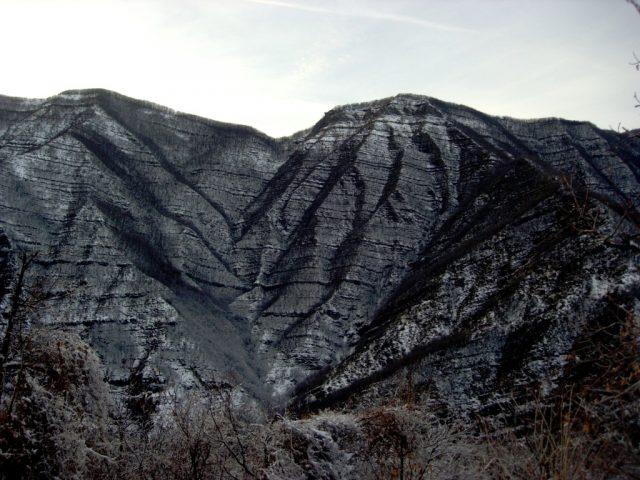 I monti della Riva, d'inverno