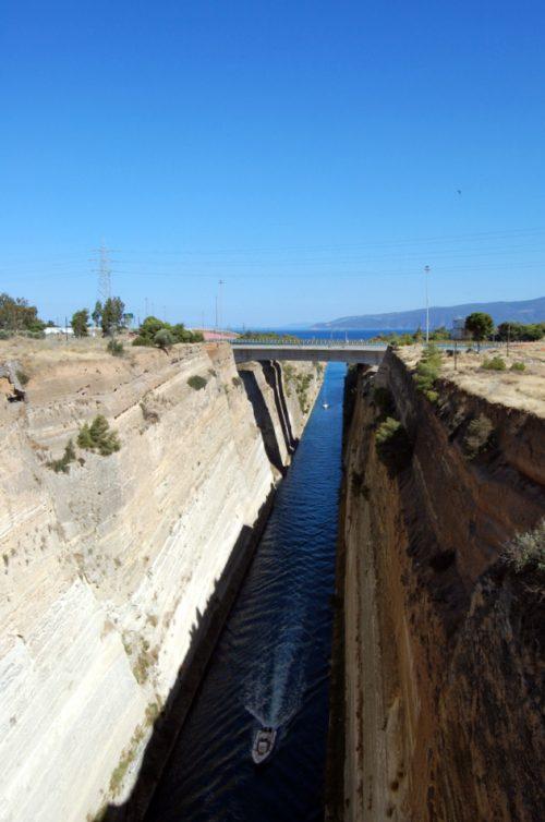 viaggio in Grecia continentale: il canale di Corinto