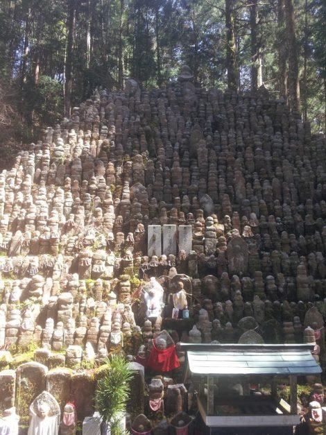 Monte Koya: centinaia e centinaia di statuette trovate compiendo gli scavi per la costruzione di un tempio