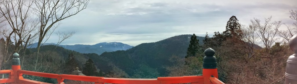 Il panorama dal monte Kurama