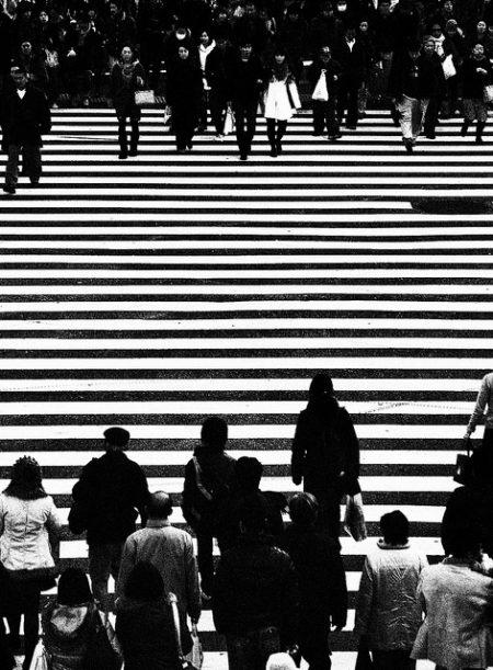 Cosa fare a Shibuya: le strisce pedonali (foto di Patrick Colgan, 2011)