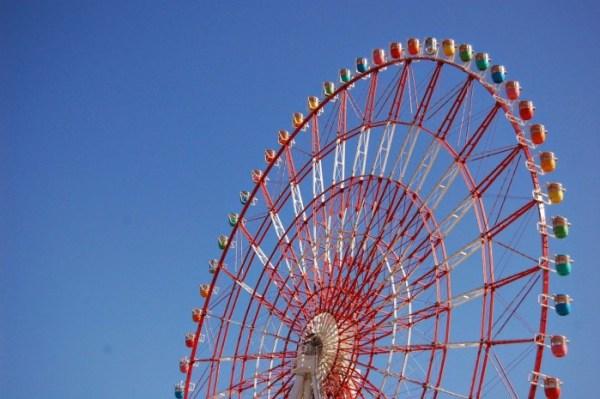La ruota panoramica a Odaiba