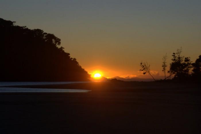 L'alba dal rifugio di Bark Bay