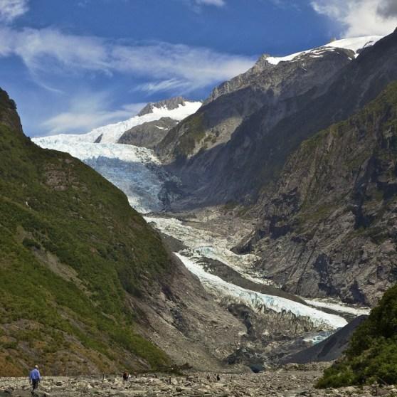 Il ghiacciaio Franz Josef nel 20011