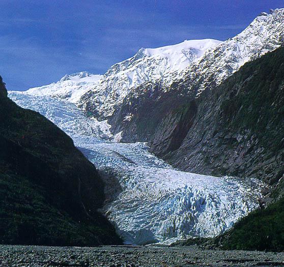 Il ghiacciaio Franz Josef nel 2001