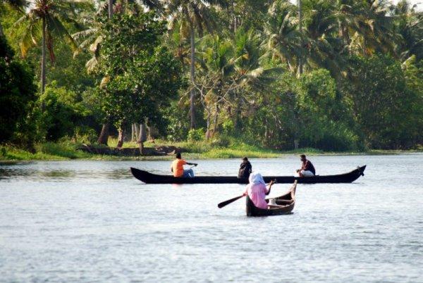 La vita nelle backwaters del Keral