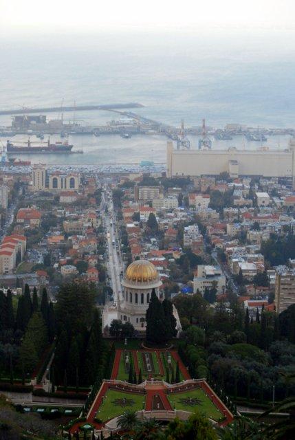 Le terrazze Bahai e il mausoleo del Bab ad Haifa