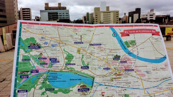 the map to Kairakuen, Mito