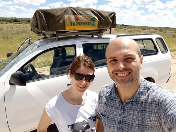 Con la nostra auto in Namibia