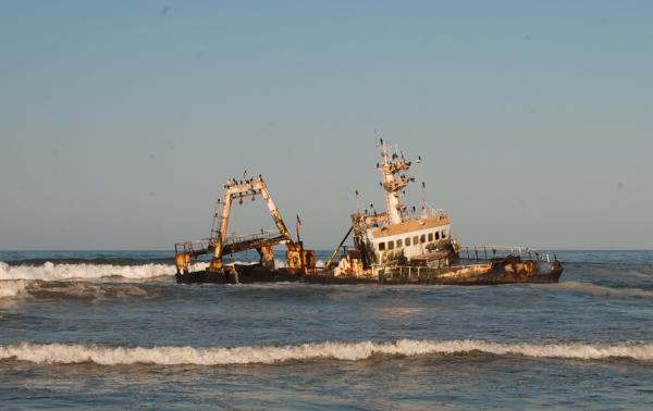 Il relitto della Zelia, Skeleton Coast, Namibia
