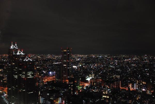 Tokyo dall'alto: panorama notturno dal Tokyo Metropolitan Government Building